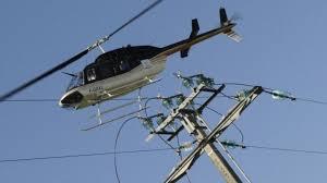 Visite de ligne en hélicoptère.