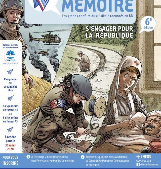 Concours de BD «Bulles de mémoire» (6ème édition 2019-2020)